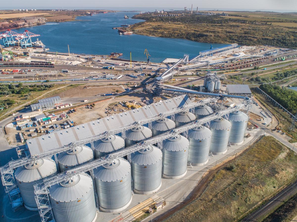 В порту «Южный» 6 сентября открыли зерновой терминал / фото пресс-служба M V Cargo