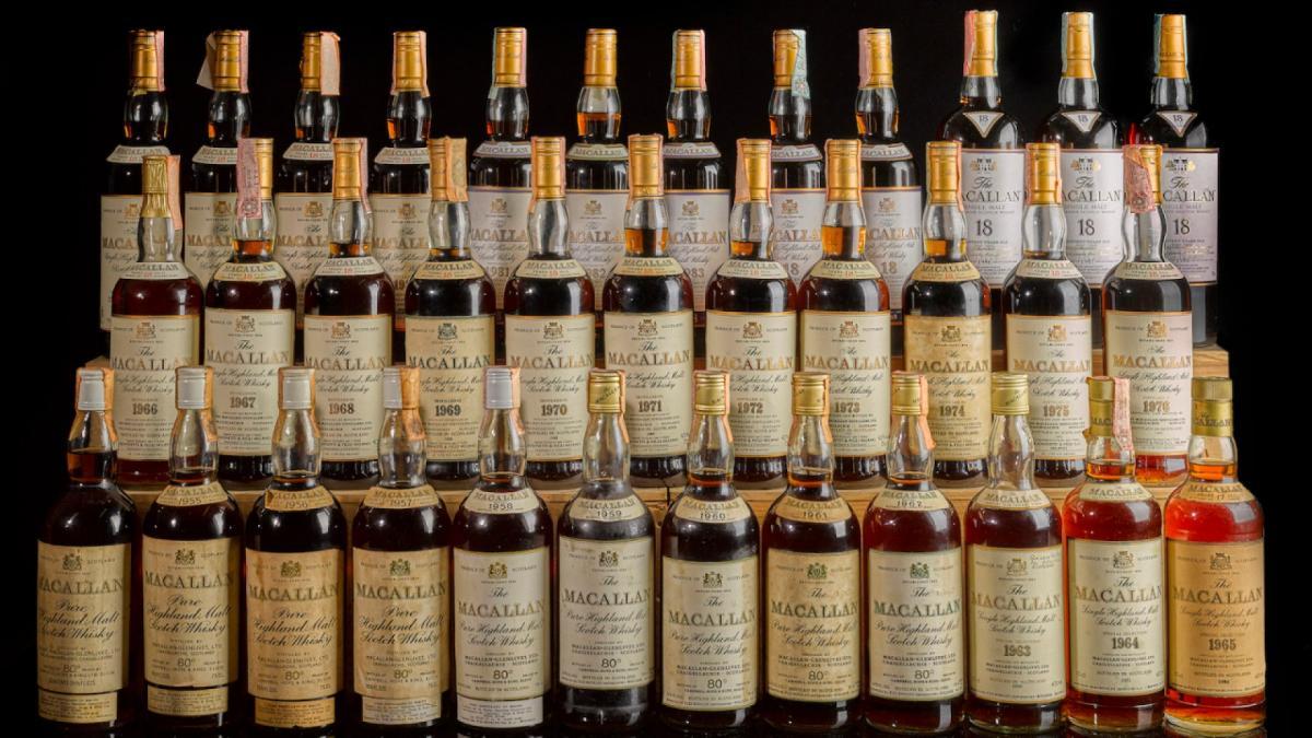 У колекції 178 пляшок віскі Macallan / фото: @ Sotheby's