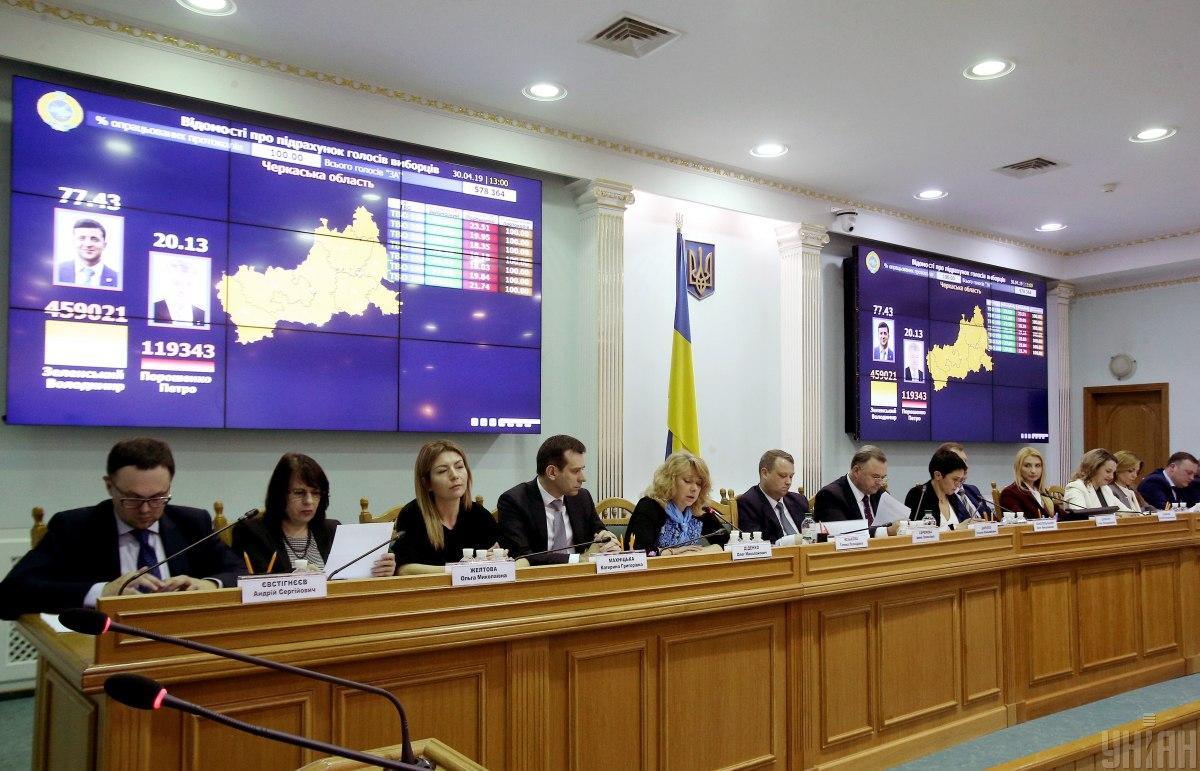 В ЦИК отреагировали на представление Зеленского о роспуске комиссии / фото УНИАН