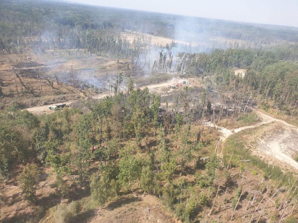 Попередньо встановлено, що на території арсеналу відбулось близько шести вибухів / facebook.com/GeneralStaff.ua