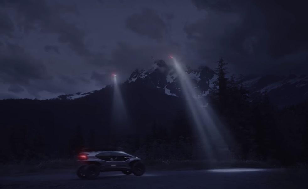 """Audi показала футуристический внедорожник с небольшим """"флотом"""" собственных дронов / Скриншот - Youtube, Audi"""