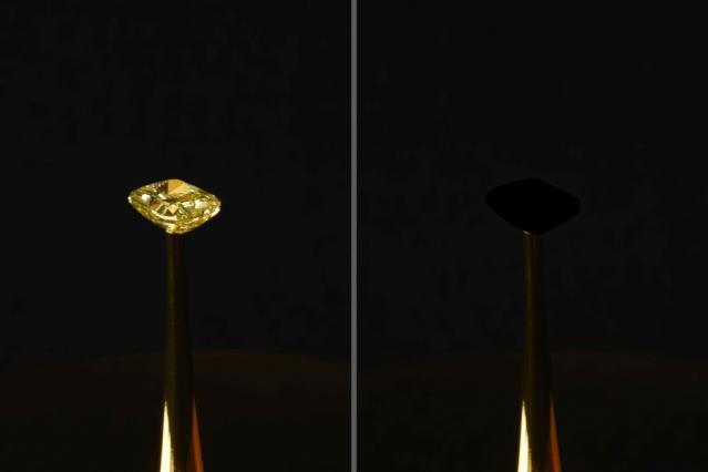 Алмаз после покрытия слоем нового материала / фото MIT