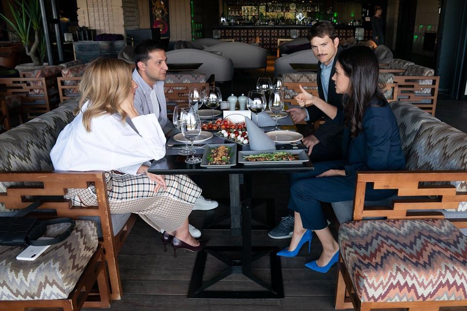 Мила Кунис и Эштон Катчер поговорили с президентом Зеленским и первой леди / фото facebook.com/zelenskiy95