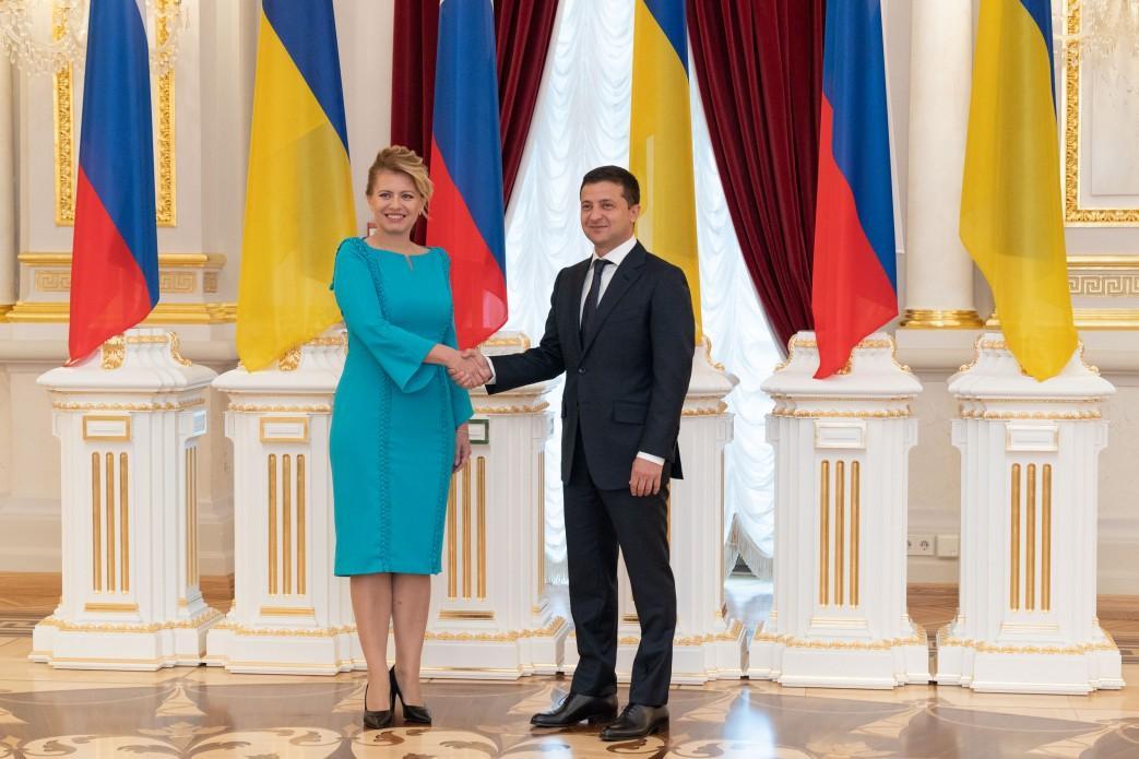 President Zelensky meets with his Slovak counterpart Caputova in Kyiv / Photo from president.gov.ua