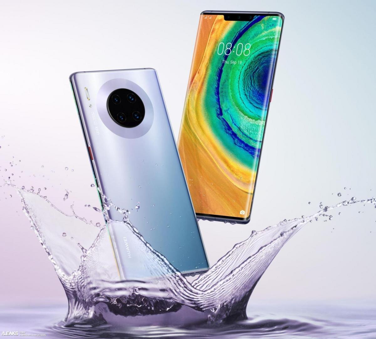 Серия Huawei Mate 30 выйдет с установленной Android 10 / фото slashleaks.com