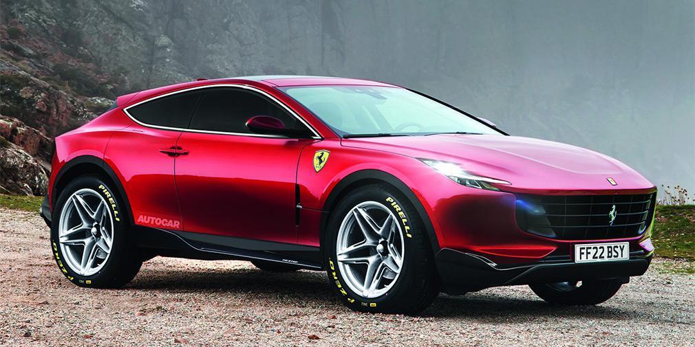 Чотиримісний купеподібний всешляховик Purosangue представлять вже у 2022 році / фото autocar.co.uk