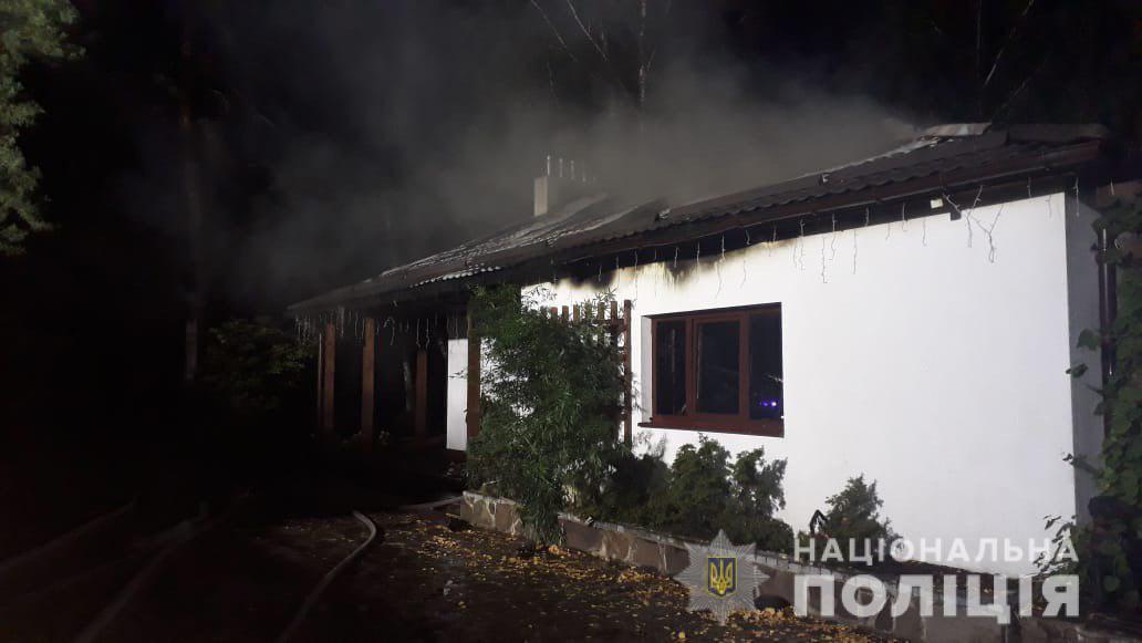 Згорілий будинок Гонтаревої / npu.gov.ua