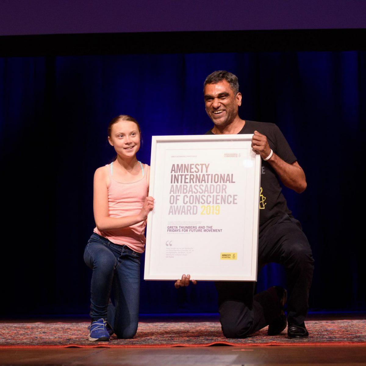 Грета Тунберг отримали найвищу нагороду правозахисної організації Amnesty International / фото amnesty.org