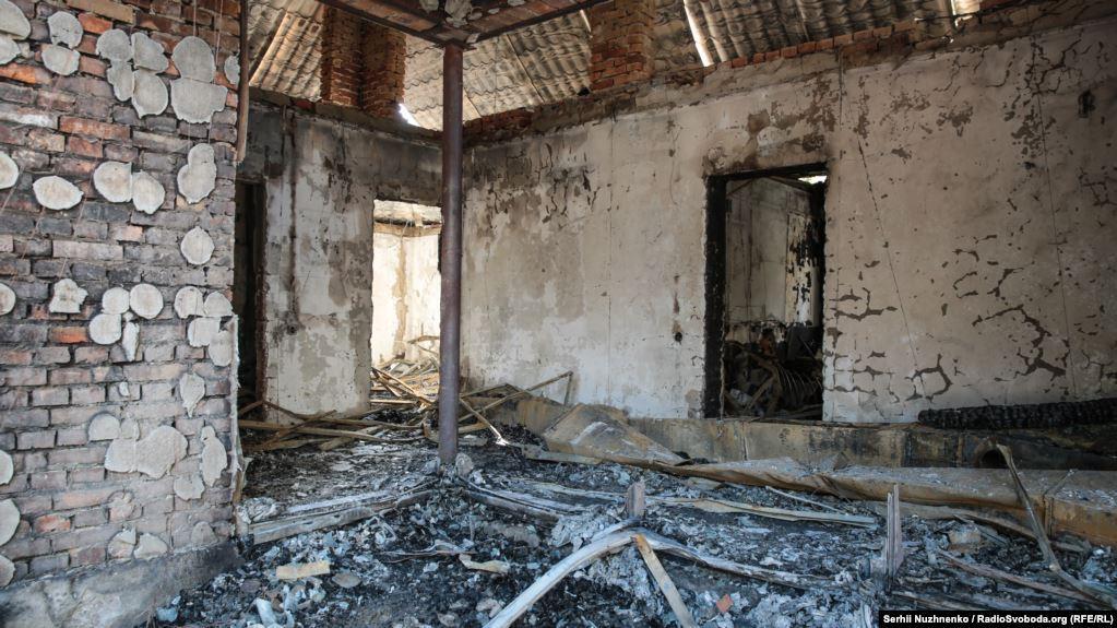 Дом Гонтаревой подожгли сегодня ночью/ фото: Радио Свобода