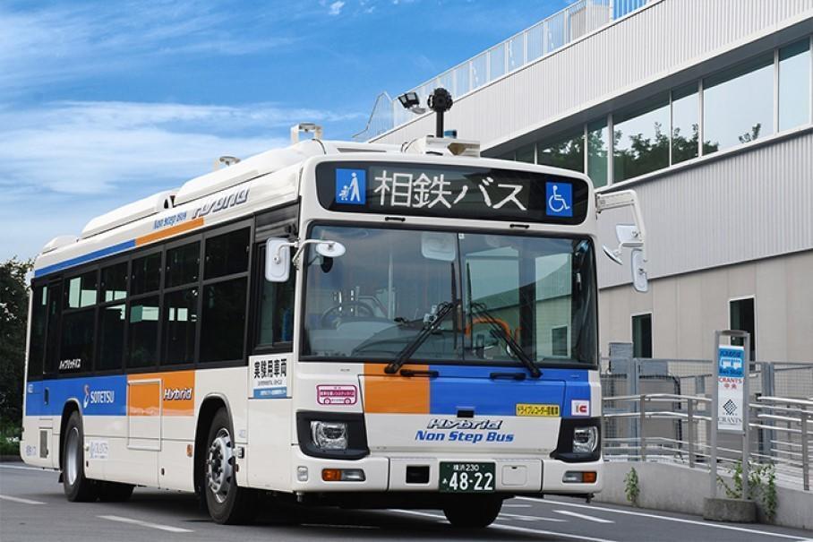 Пока что маршрут автобуса довольно скромный — его длина всего 900 метров / фото Sotetsu Bus