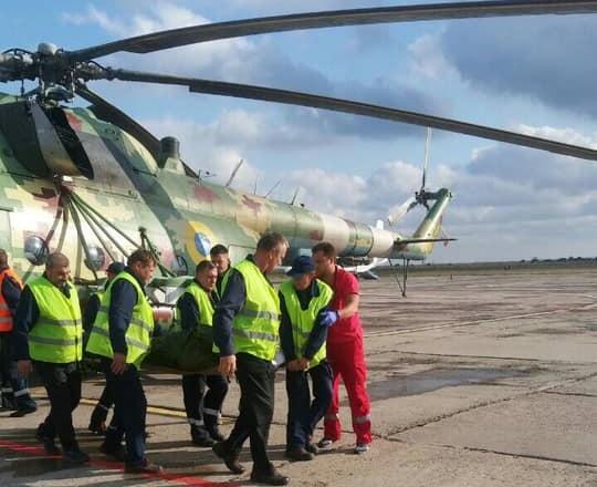 Военных доставили на вертолетах/ фото: facebook Татьяна Губа