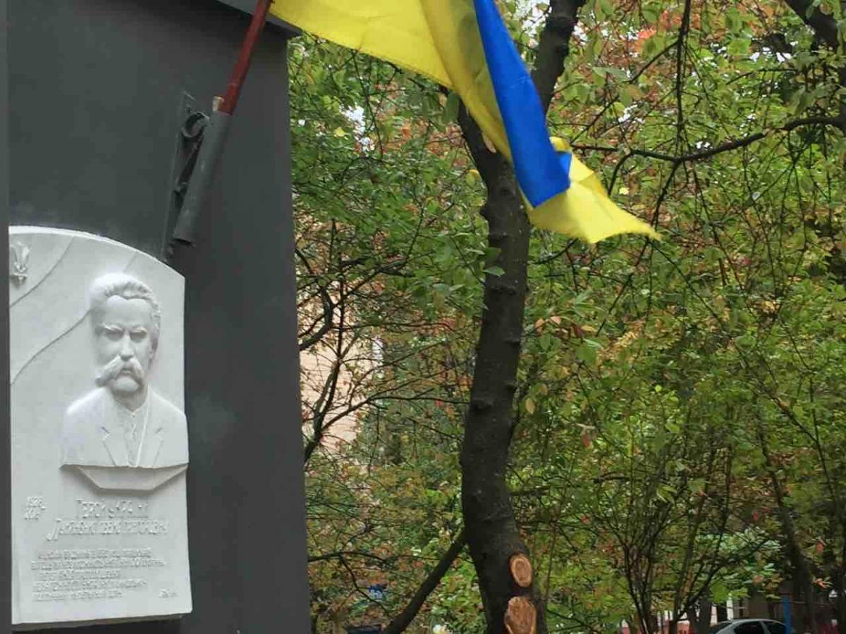 Дошку встановлено на будинку, де проживав брат дисидента / фото: УНІАН