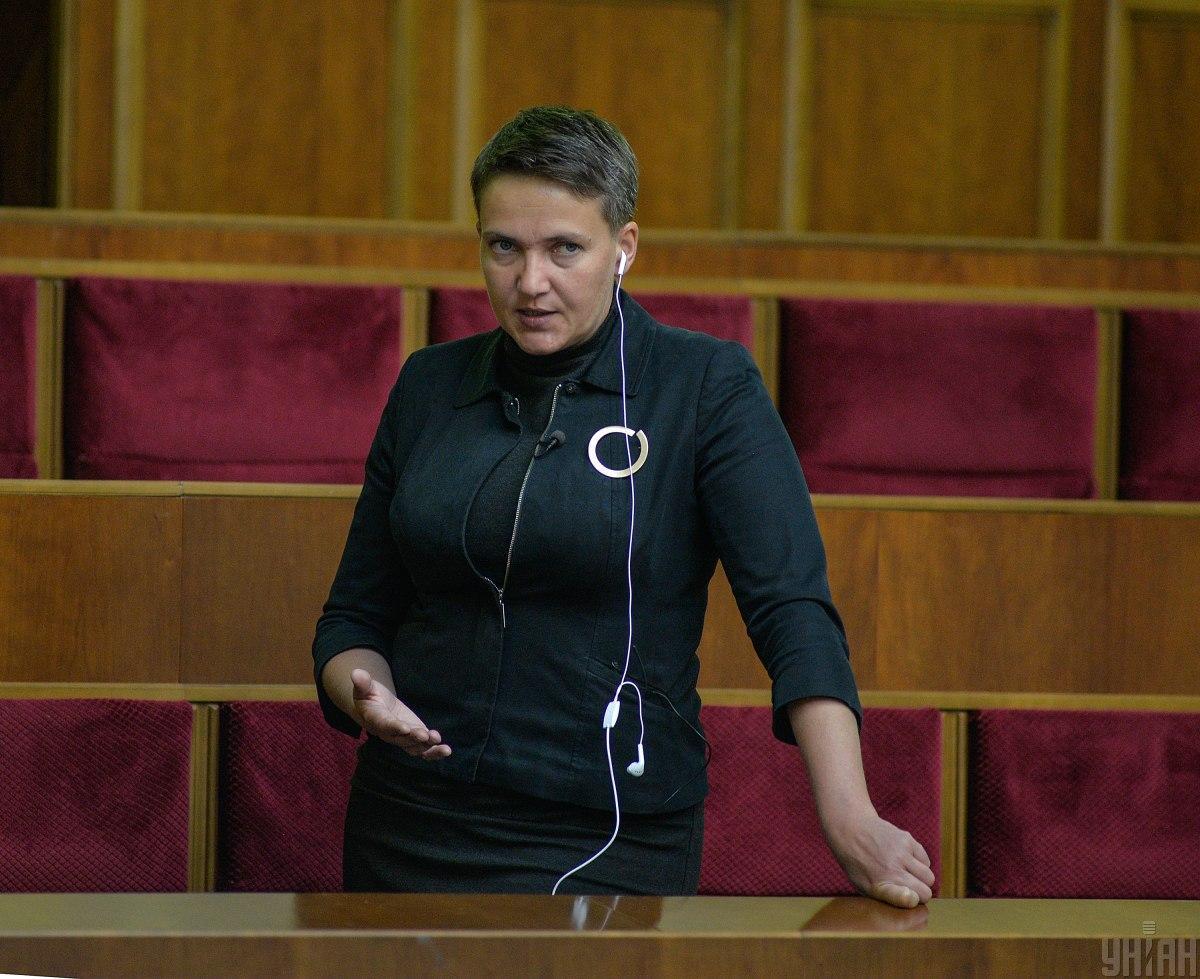 Савченко в новой роли в Раде / фото УНИАН