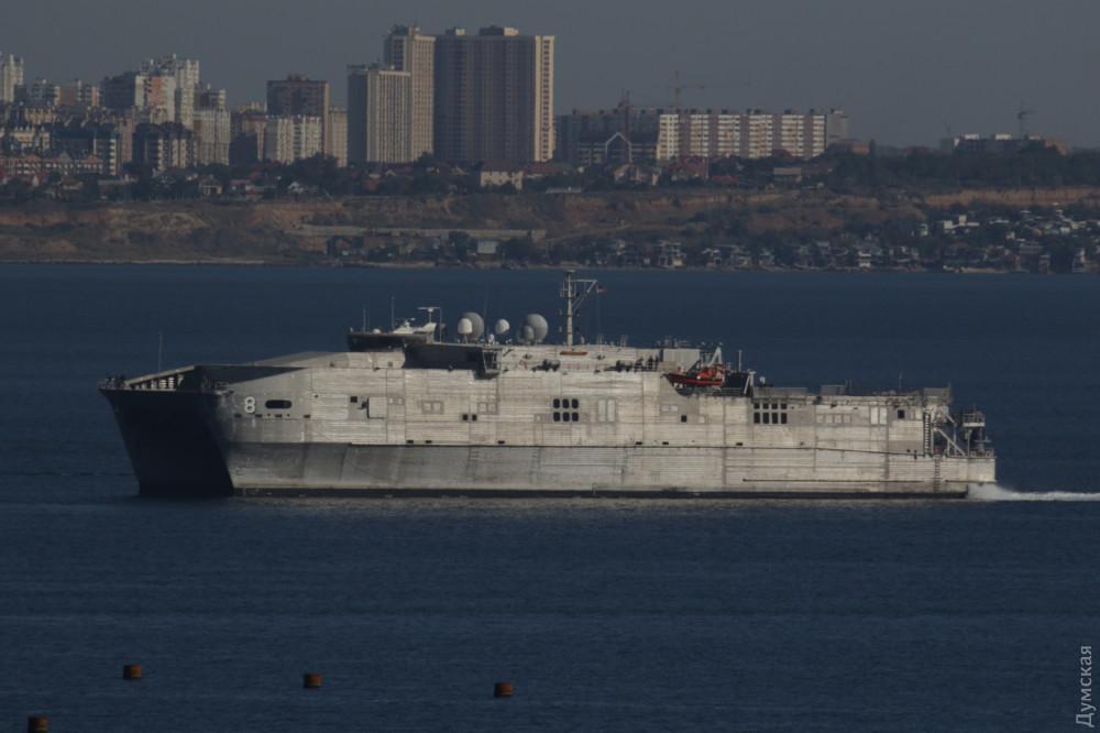 """Увійшовши в Чорне море, американський корабель попрямував в Поті / """"Думська"""""""