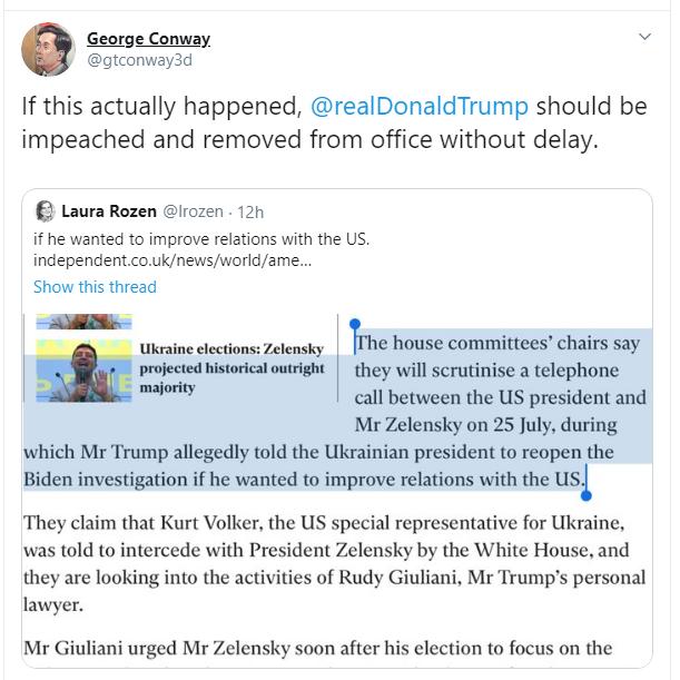 The Independent пишет, что администрация Трампа давит на украинское правительство / скриншот