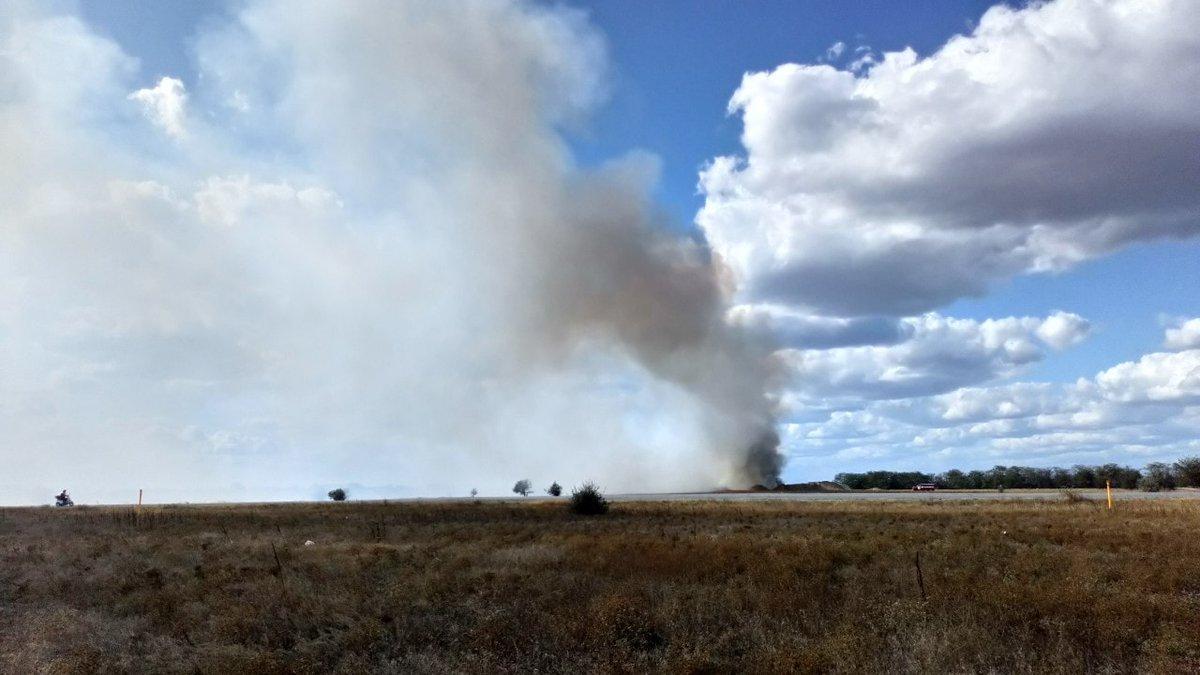 На полігоні в Криму сталася пожежа / фото: twitter.com/KrimRt