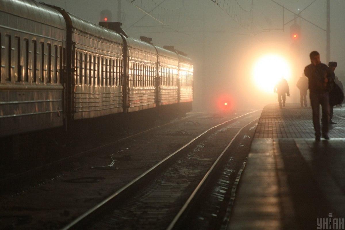 Вночі сталася затримка у русі поїздів / фото УНІАН