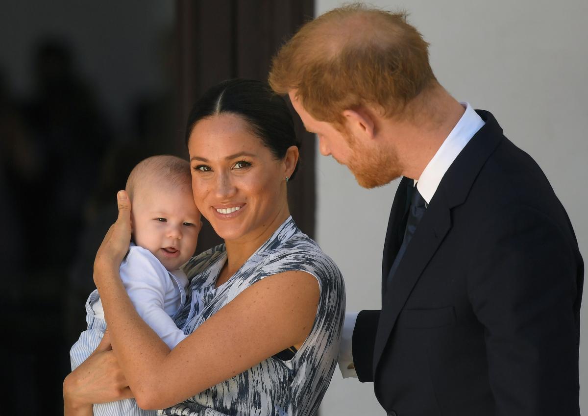 Принц Гарри, Меган Маркл с сыном Арчи / фото REUTERS