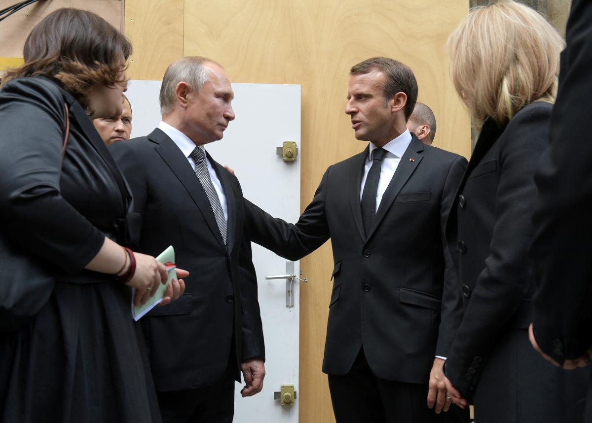 Володимир Путін і Еммануель Макрон / REUTERS