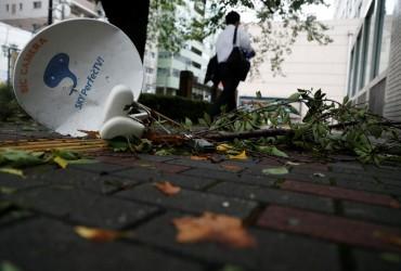 """Из-за тайфуна """"Факсай"""" в окрестностях Токио тысячи домов продолжают оставаться без света"""