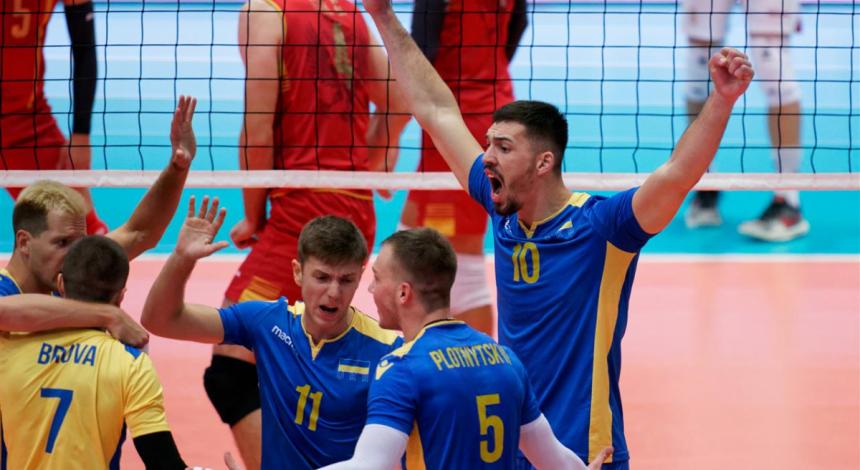 Сборная Украины одержала вторую победу на чемпионате Европы по волейболу