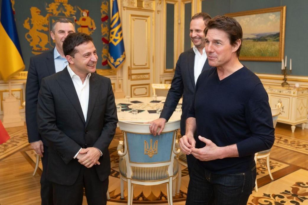 Зеленский сообщил ТомуКрузуо преимуществах съемок фильмов в Украине / фото president.gov.ua