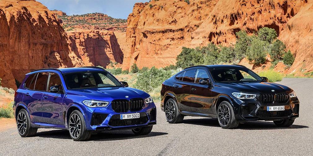 Новые BMW X5 M и X6 M получили 625-сильный мотор / фото BMW
