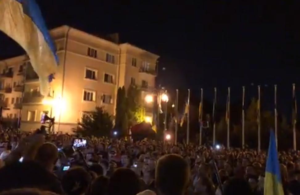 """У столиці проходить акція """"Ні капітуляції!"""" / Скріншот"""