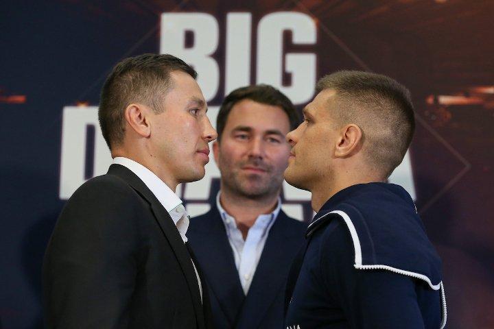Геннадий Головкин и Сергей Деревянченко встретятся 5 октября / фото: boxingscene.com