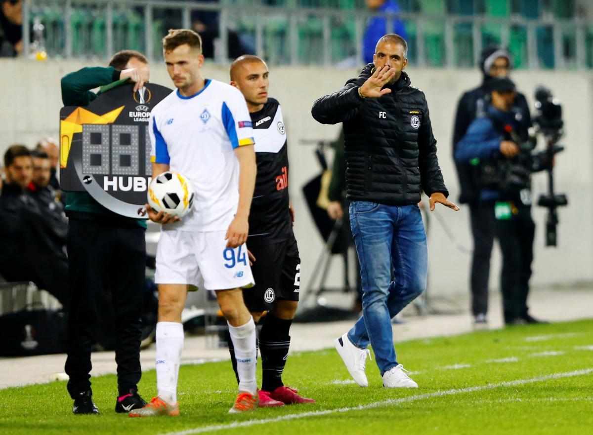 Лугано - Динамо / REUTERS
