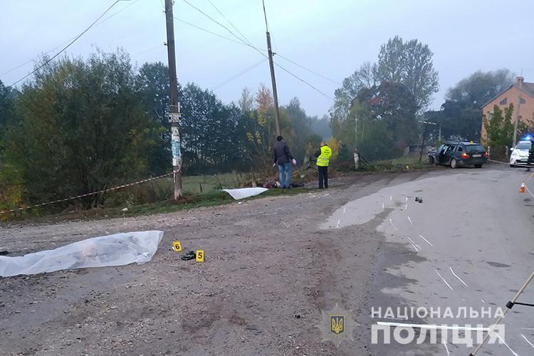 Водитель наехал на пешеходов, потому что не заметил их в темноте / фото ГУ НП в Тернопольской области