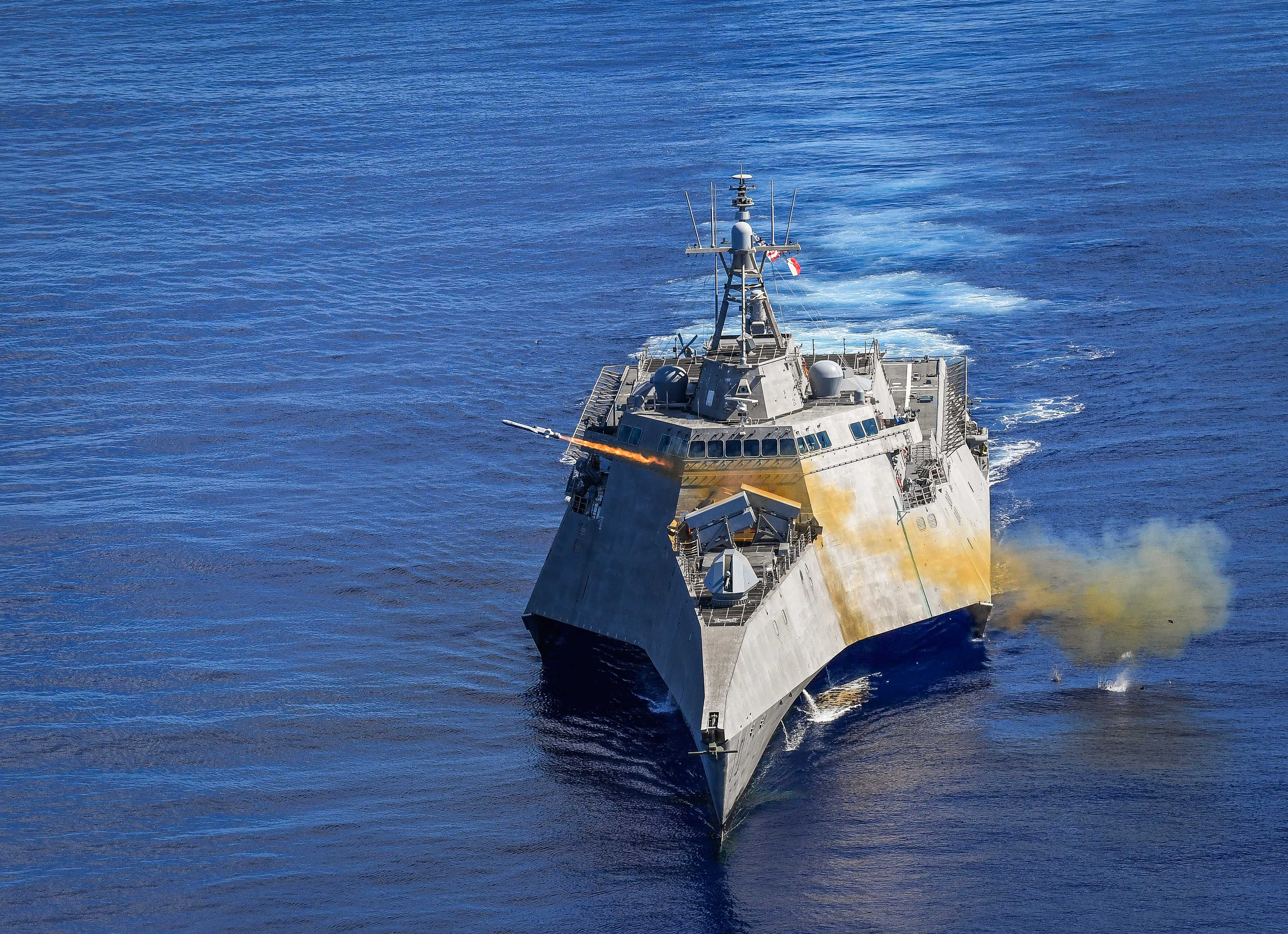 Ракета была запущена с корабля USS Gabrielle Giffords / фото navy.mil