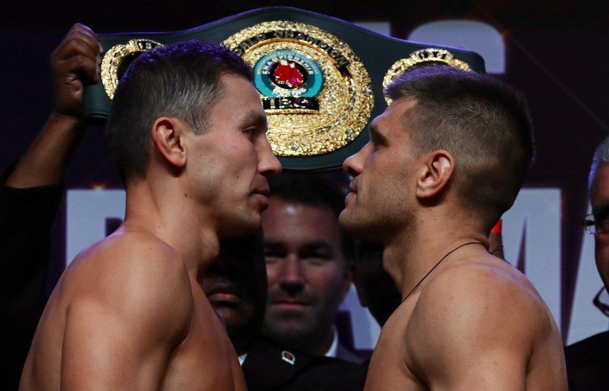 Геннадий Головкин и Сергей Деревянченко / фото: twitter.com/matchroomboxing