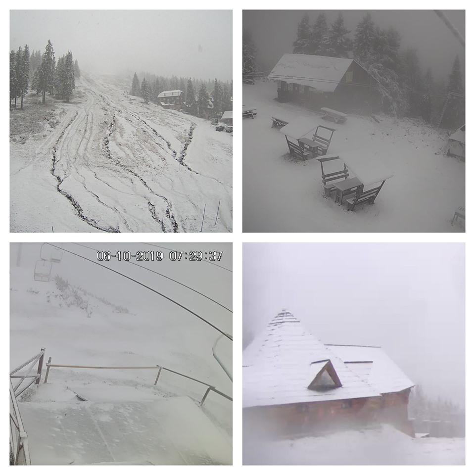 Украинские горы засыпает снегом/ facebook.com/www.sneg.info