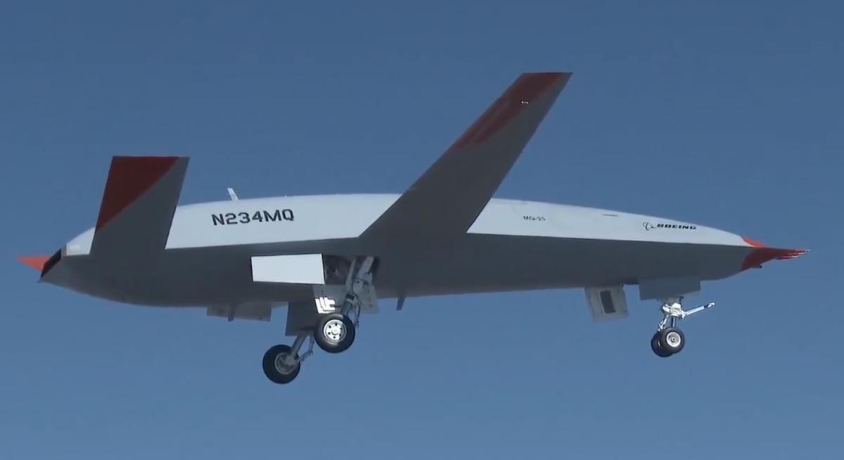 Компания Boeing показала видео полета нового беспилотника-дозаправщика/ Twitter, Boeing Defense