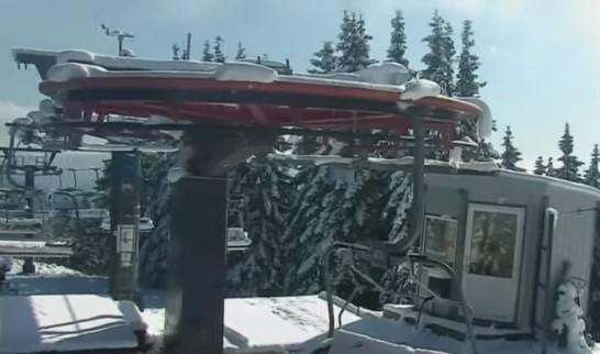 Схили Карпат вкрило снігом / скріншот відео ТСН