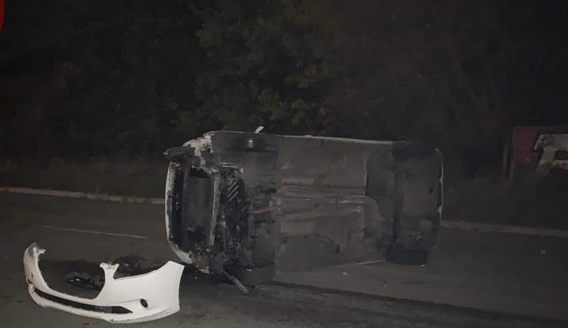 Водитель не заметил предупредительных дорожных знаков / фото: Киев оперативный