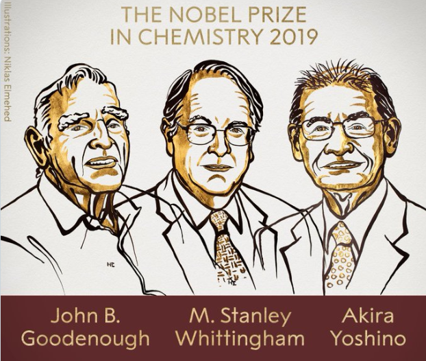 Стали известны лауреаты нобелевской премии по химии 2019 / Twitter. The Nobel Prize
