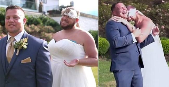 Жених рассмеялся, увидев своего друга в свадебном платье / Скриншот