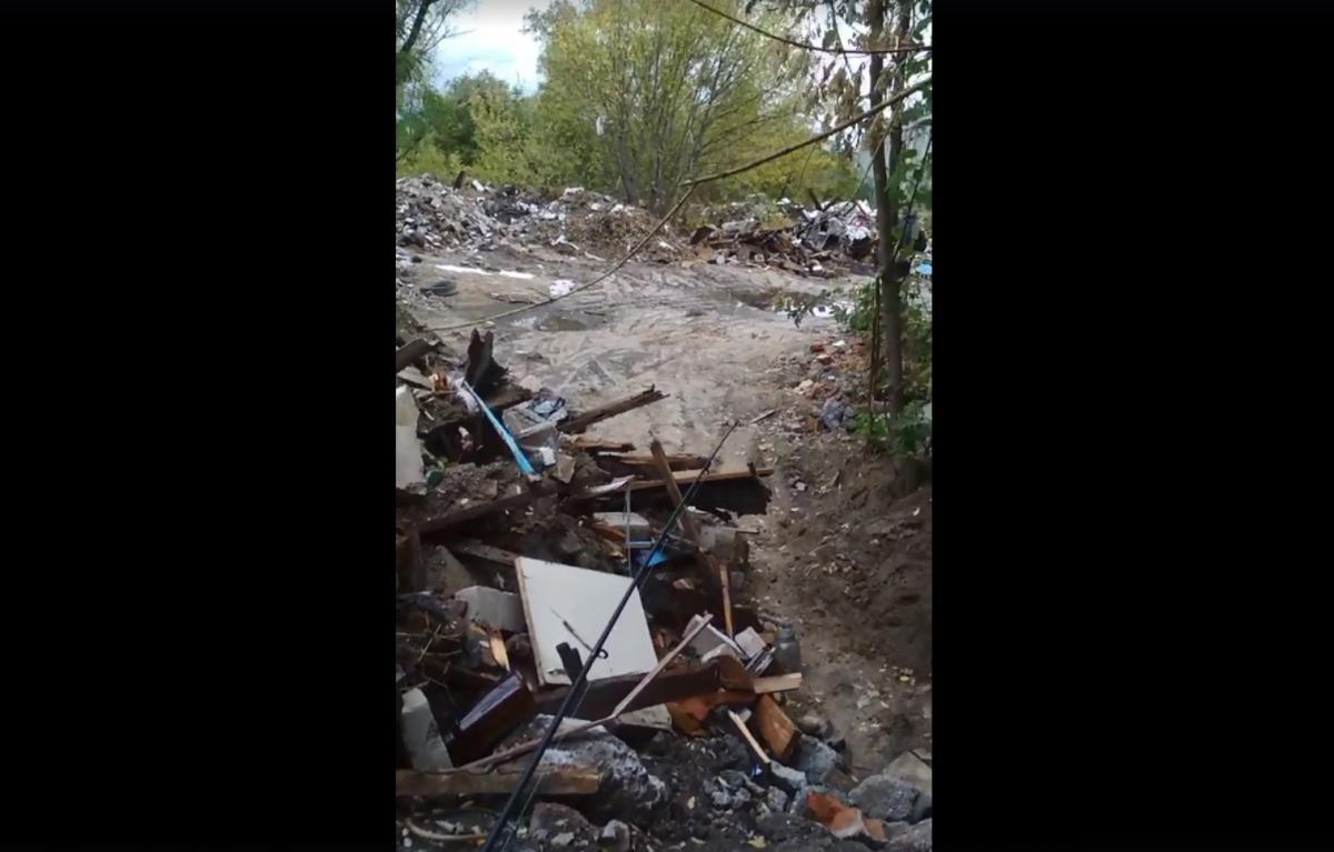 Зону отдыха захламляют мусором / скриншот