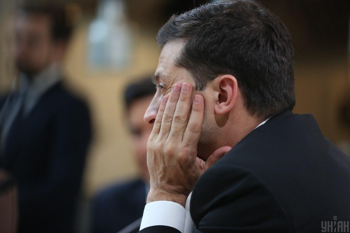Зеленский заявил, что политические оппоненты пытаются расколоть партию / фото УНИАН