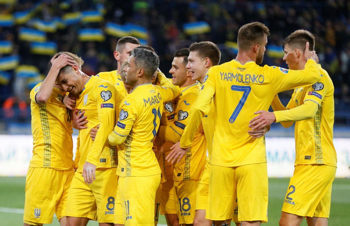 футболисты сборной Украины / фото REUTERS
