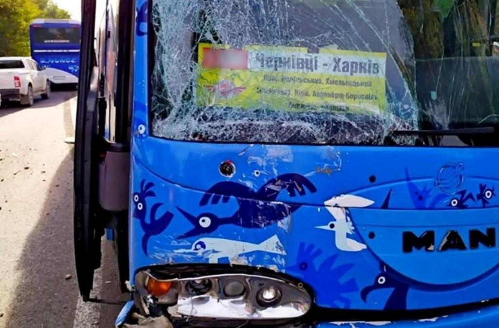 Внаслідок зіткнення рейсового автобуса із мікроавтобусом постраждали 9 осіб / фото прес-служба ГУНП в Чернівецькій області