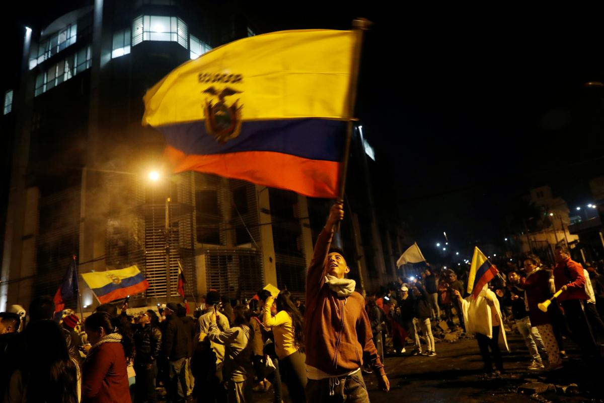Протестующие в Эквадоре / REUTERS