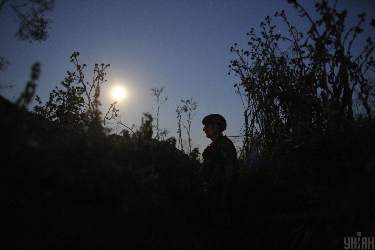 Сили ООС відповіли на обстріли окупантів / фото УНІАН