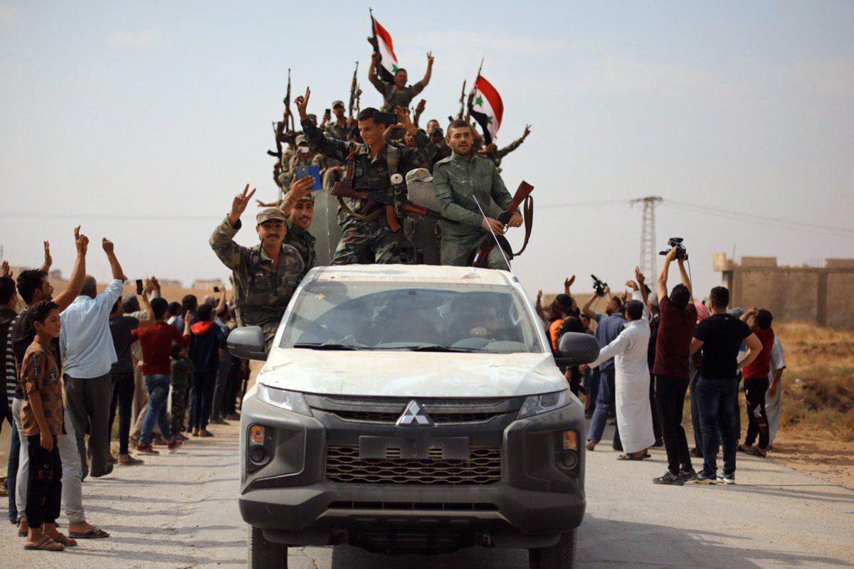 Солдаты сирийский армии / REUTERS