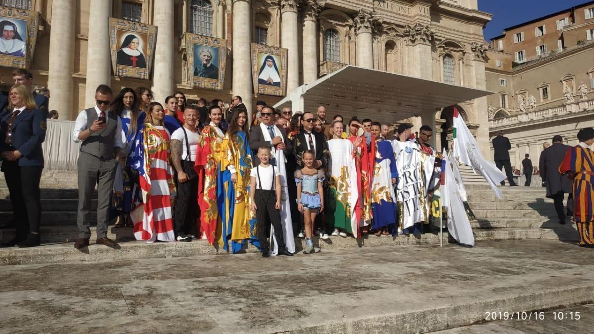 София Теплая 16 октября выступила на главной площади Ватикана / фото - Марина Тепла