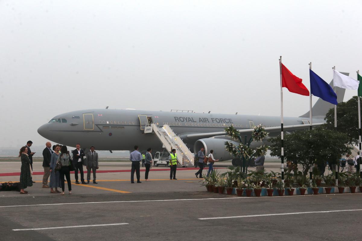 Королівський літак / фото REUTERS