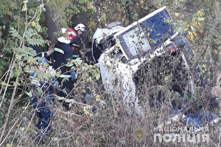 В авто находились 20-летняя водитель и ее ровесница-пассажирка / фото ГУ НП в Тернопольской области