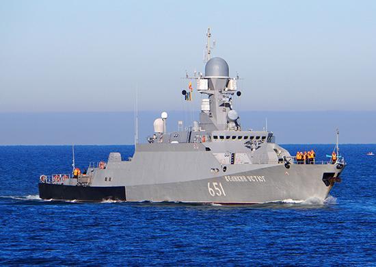 Корабли возвращаются в пункт постоянного базирования на Каспии / Министерство обороны РФ
